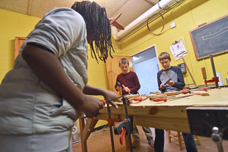 Woodworking at RIchmond Waldorf School