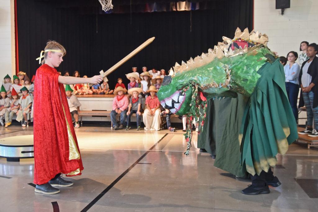 Saint Michael and the dragon - Richmond Waldorf School