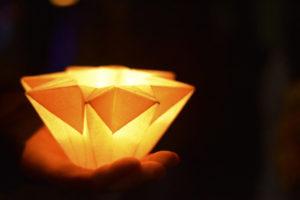 handmade origami paper lantern