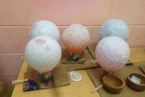Paper balloon lanterns in progress for martinmas richmond virginia