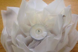 origami paper flower lantern