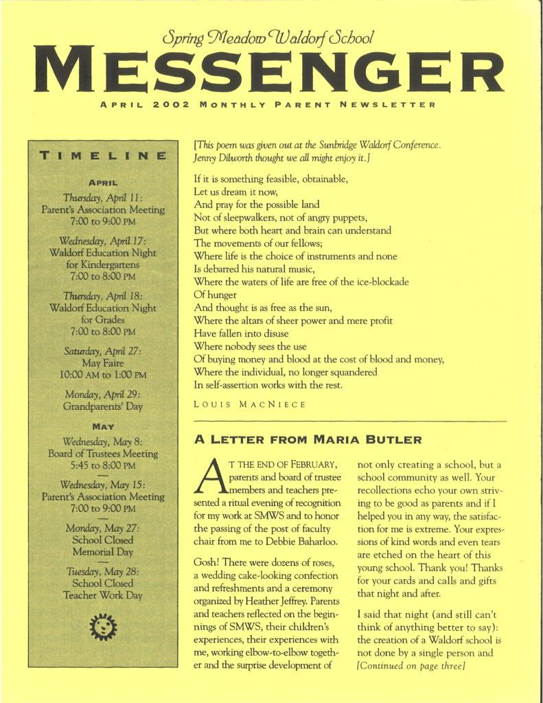 Remembering Maria Butler